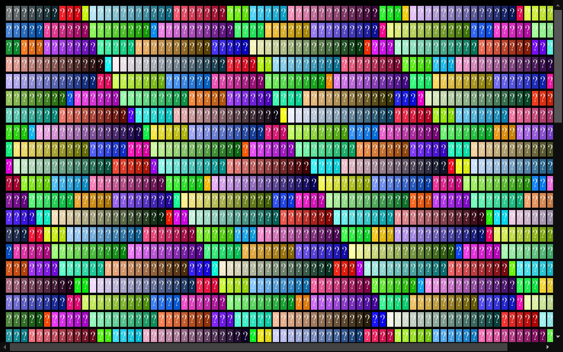 colortable 420 math calculates the colors of this HTML ...