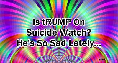 Is Trump On Suicide Watch? - He's been so sad lately - meme - gvan42