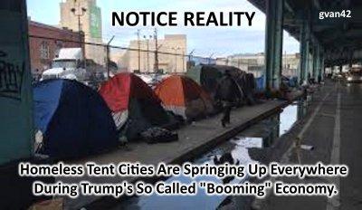 MEME - tRUMP's tent city - Promises Made, Promises Broken - gvan42