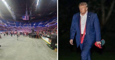 MEME - Trump's Botched Tulsa Rally Walk of Shame